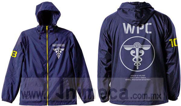 WPC Hooded Windbreaker Navy x Yellow Psycho-Pass