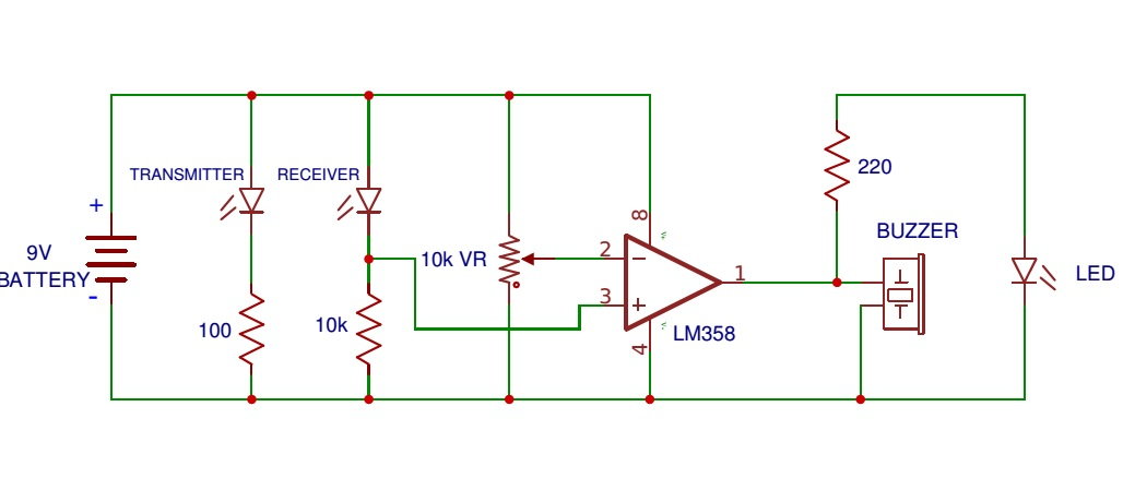 how to connect an ir photodiode sensor. Black Bedroom Furniture Sets. Home Design Ideas