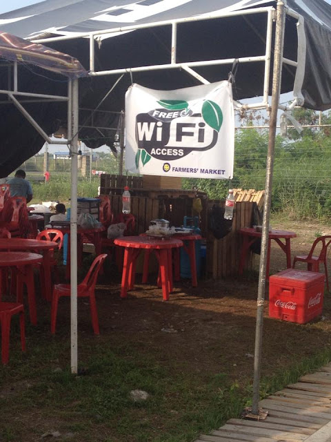 free wifi access at the SRP Farmers' market