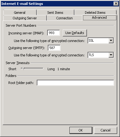 Enterprise Servers and Networking: SETTINGS: Gmail IMAP and