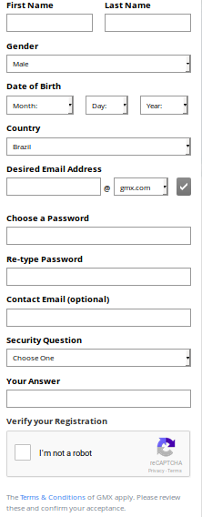 Como criar email GMX @gmx.com