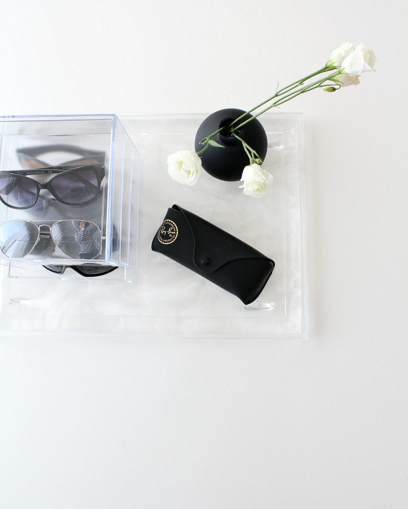 sunglasses storage system