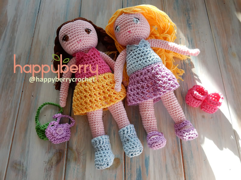 Happy Berry Crochet Miniature Crochet Bag Shoes Booties Final