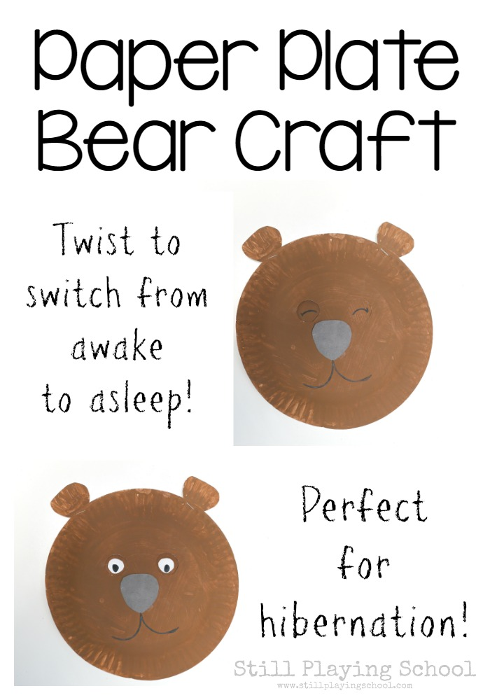 Hibernating Bear Craft For Kids Still Playing School