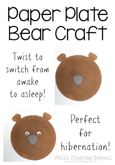 Hibernation Bear Craft Preschool