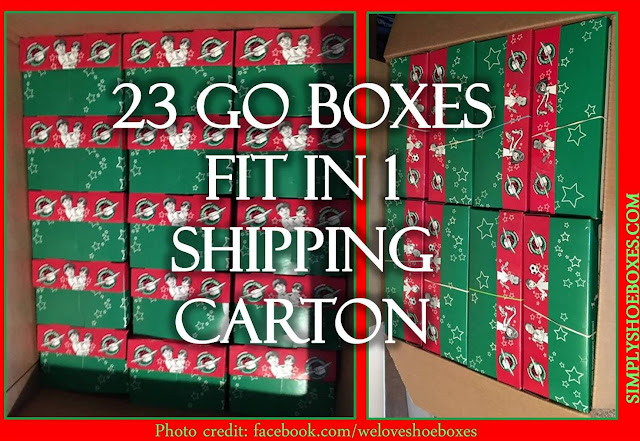 23 Operation Christmas Child GO shoeboxes fit in a carton