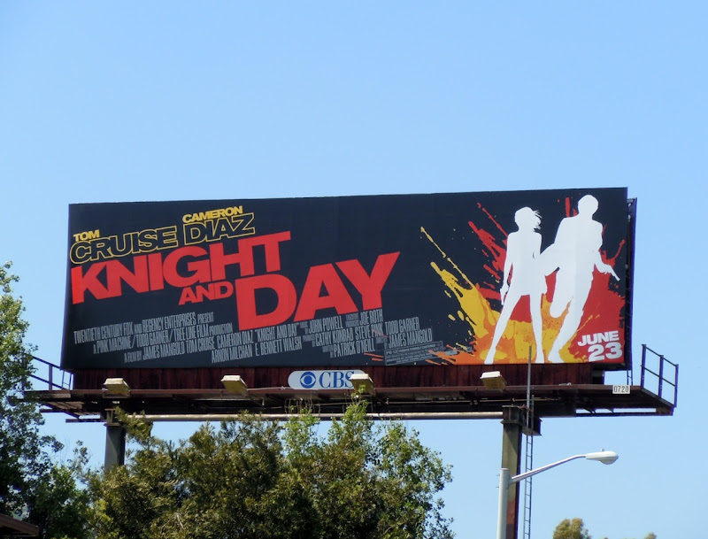 Knight and Day movie billboard