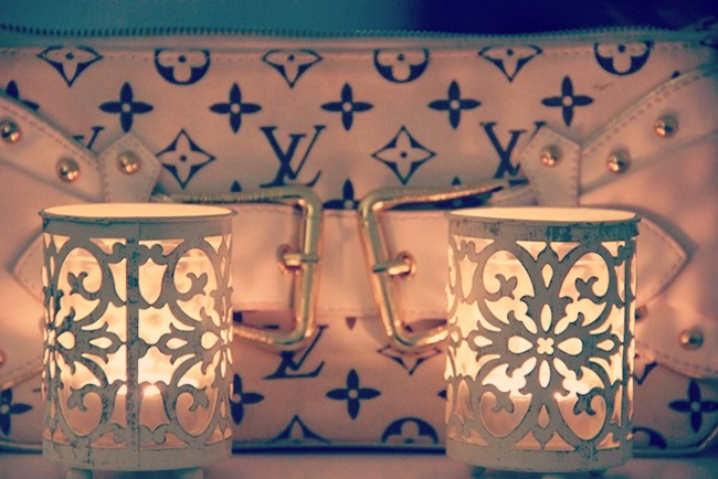 Louis Vuitton white purse