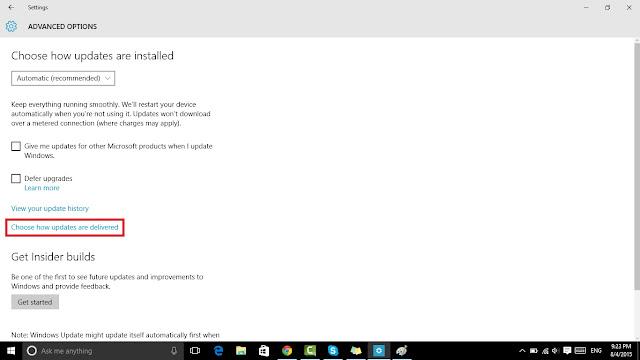 حل مشكلة بطء الانترنت فى ويندوز 10
