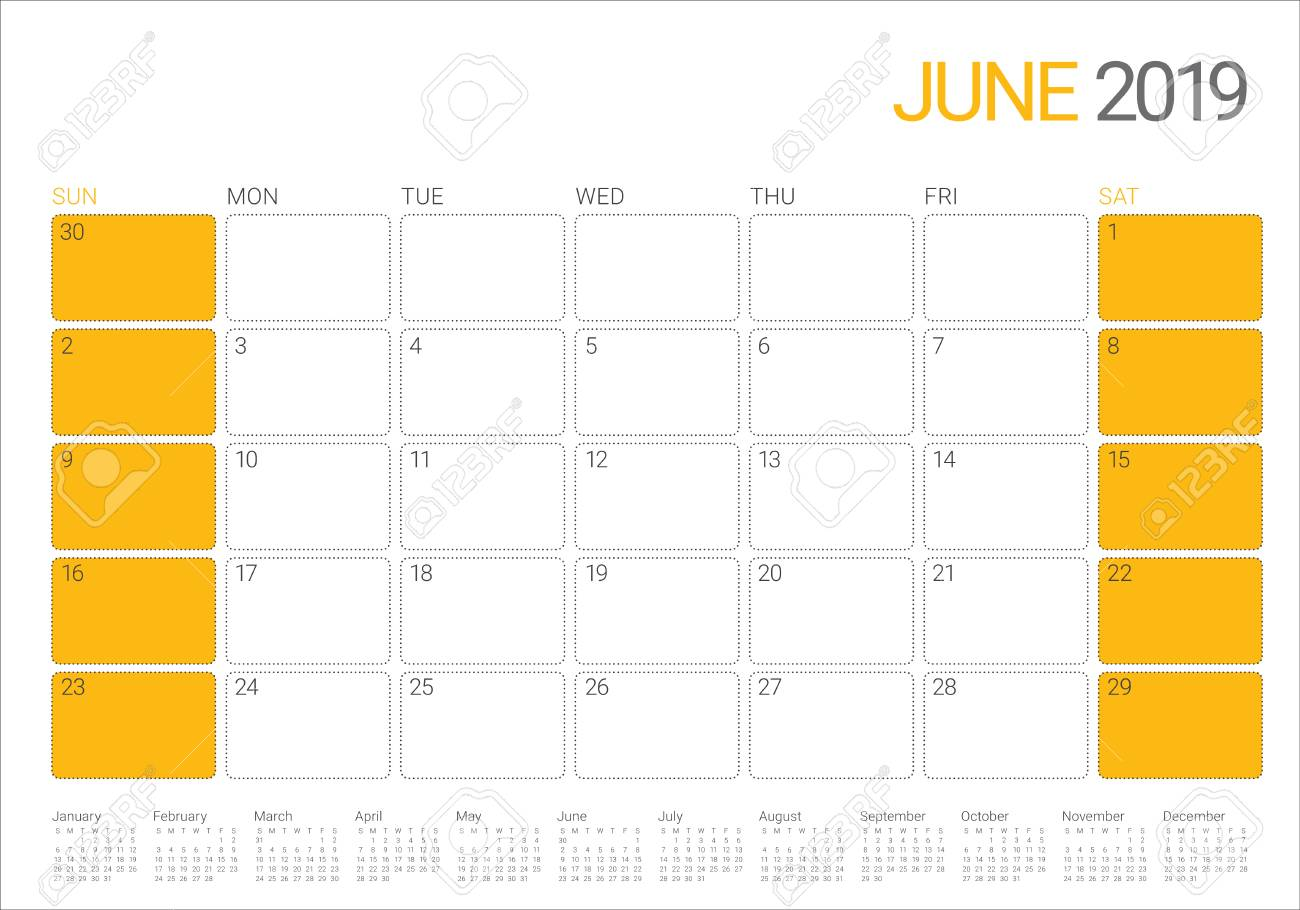 photo about Printable June Calendar named Choose Printable Calendar : June 2019 Printable Calendar