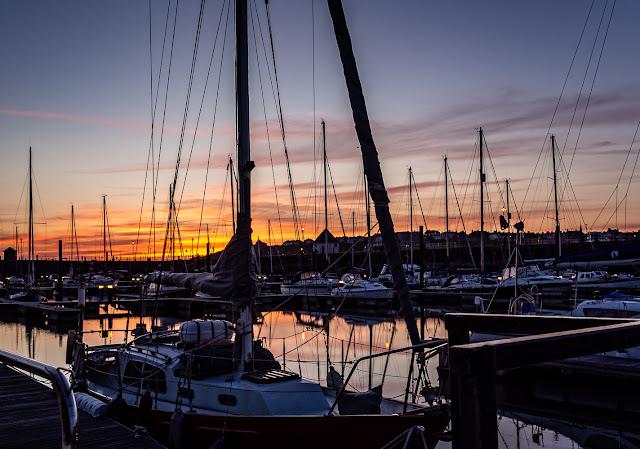 Photo of Maryport Marina before sunrise on Wednesday