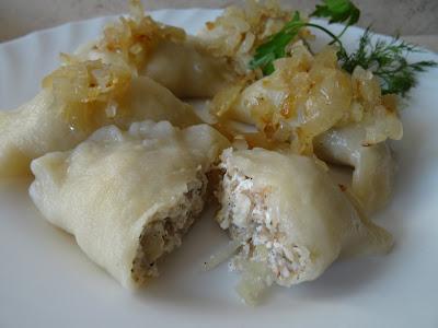 Pierogi z serem i kaszą gryczaną