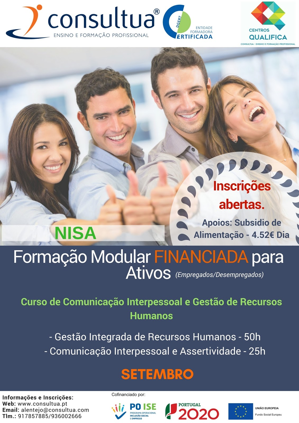 Cursos financiados Nisa e Portalegre