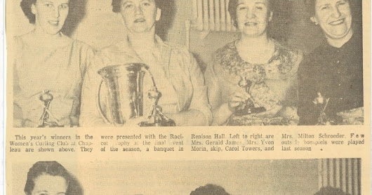 Chapleau Women's Curling Club winds up successful 1959 season with banquet and awards night
