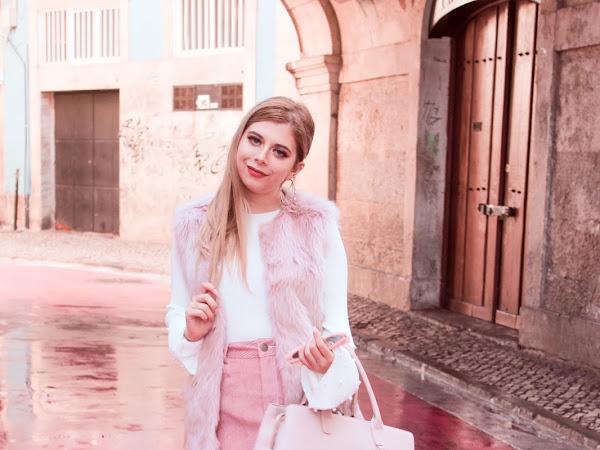 Look - Suede Pink Skirt