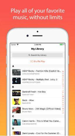 Scaricare e streaming di musica gratis con Musi su iPhone e iPad.