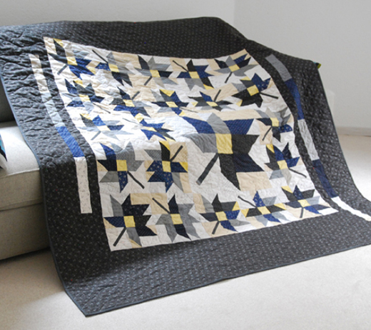 Leaves a'Flutter Quilt Free Tutorial