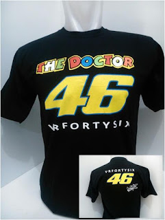 KAOS MOTOGP ROSSI THE DOCTOR 46 HITAM