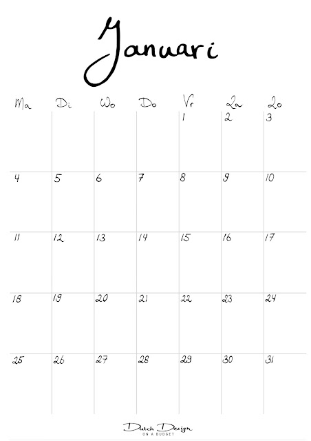 Kleurplaat Kalender Maart Dutch Design On A Budget Gratis Printen Kalender