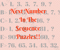 Next Number In The Sequence Puzzles for Kids with answers