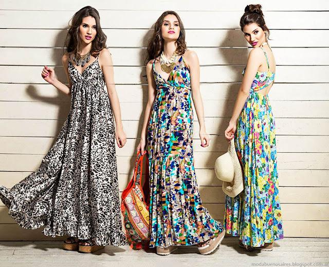 Moda 2016. Sophya tendencia verano 2016 vestidos largos estampados. Moda verano 20116 vestidos.