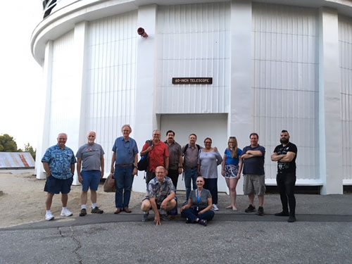July 8 group of OC Astronomers at Mount Wilson or Mt. Wilson 60 inch telescope (Source: Palmia Observatory)