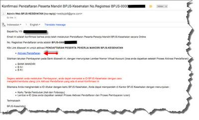 isi email notifikasi pendaftaran BPJS Online