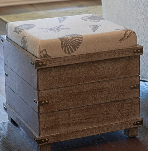 Awesome Coastal Amp Nautical Ottomans Diy Amp Shop Coastal