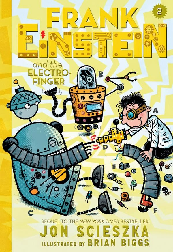 Frank Einstein and the Electro-Finger by Jon Scieszka book cover