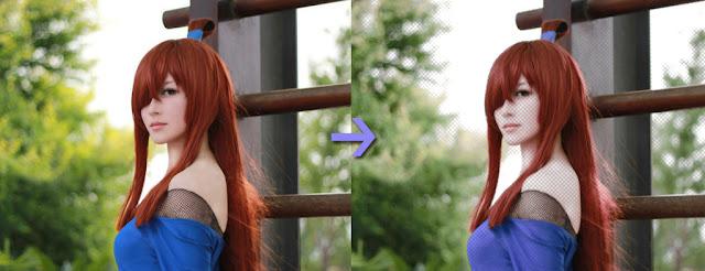 Before dan After menggunakan efek dot