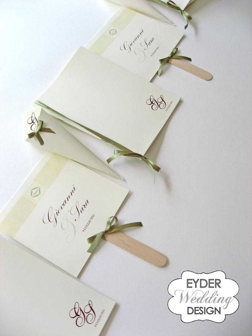 Famoso EYDER Wedding DESIGN: Libretti messa, messali e ventagli  VQ41