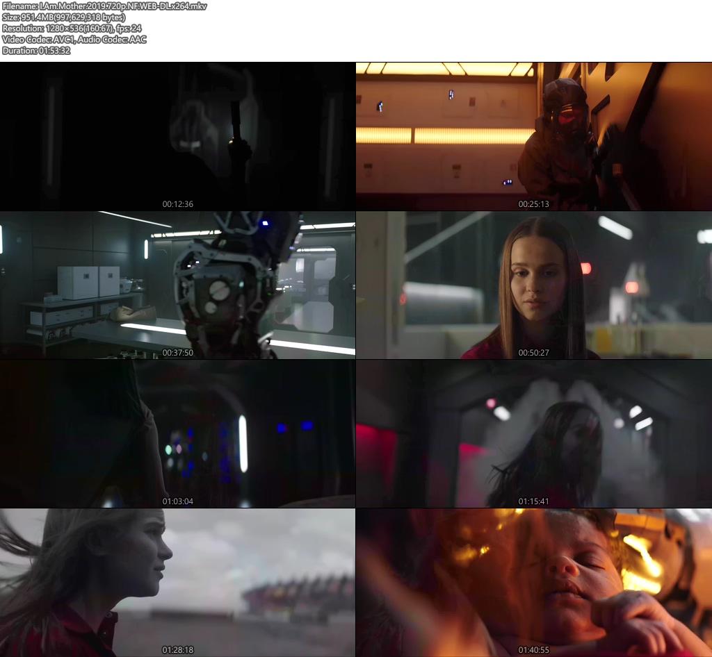 I Am Mother 2019 720p NF WEB-DL x264 | 480p 300MB | 100MB HEVC Screenshot