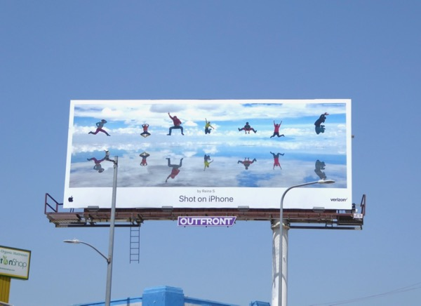 Shot iPhone Reina S Beach reflections billboard