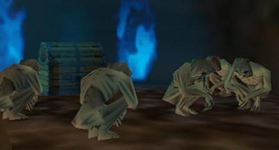 The Legend of Zelda Redeads 64 Ocarina of Time Majora's Mask sitting crouching sad