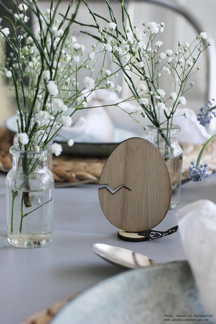 annelies design, webbutik, påsk, påsken, påskdukning, bordsdukning, påskpynt, oohh, inredning, dekoration, inredningsbutik, varberg, brudslöja, blommor, blåbärsris