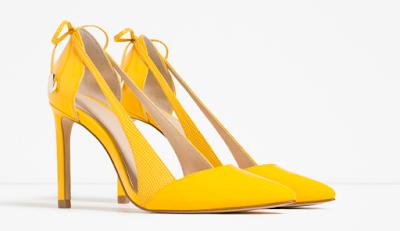 Lista de ideas para regalar a personas especiales, zapatos amarillos de zara
