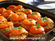 Zapečené plnené paradajky - recept