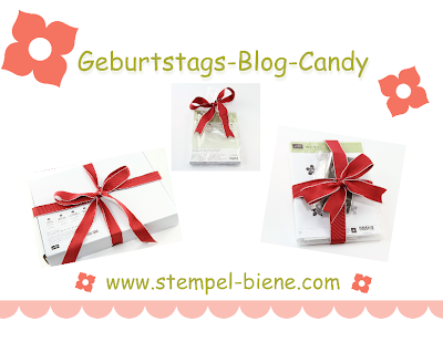 Stampin Up Blog Candy, Stempel-Bienes Geburtstags-Blog-Candy