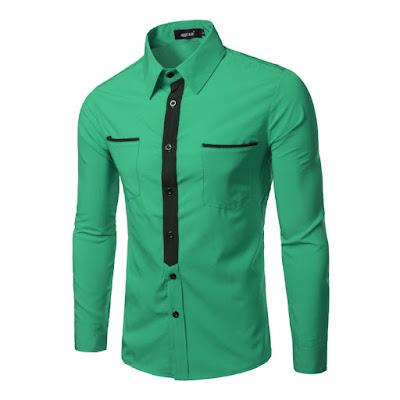 yeşil spor gömlek kombini