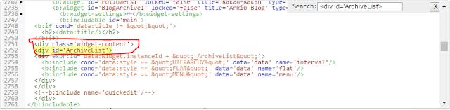 Cara mudah buat scroll bar pada arkib blog