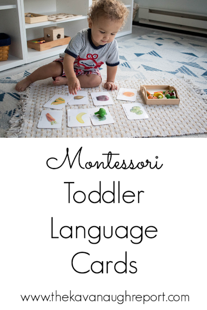 A look at Montessori language cards with toddlers. Here are a few ways to use them and some options on where to get them.