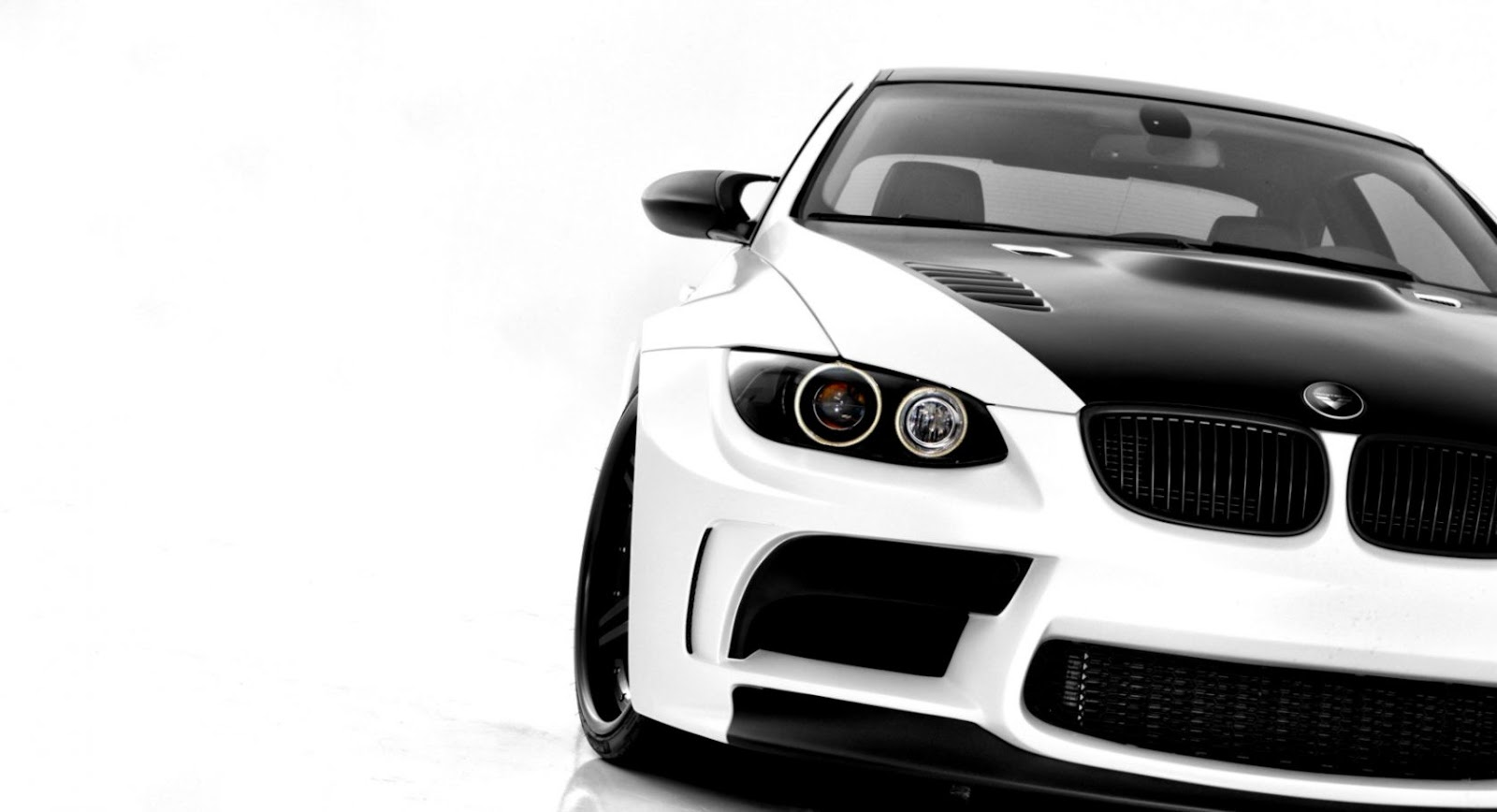 Bmw M3 E92 White Car Front Tuning Hd Wallpaper Like Wallpapers