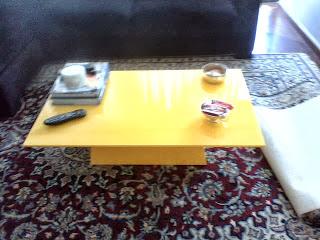 laqueação mesa de centro