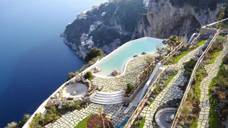29 Most Amazing Infinity Pools in Pictures - The Monastero Santa Rosa Hotel & Spa, Amalfi Coast, Italy