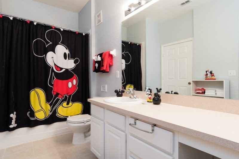 Mickey mouse restroom decor