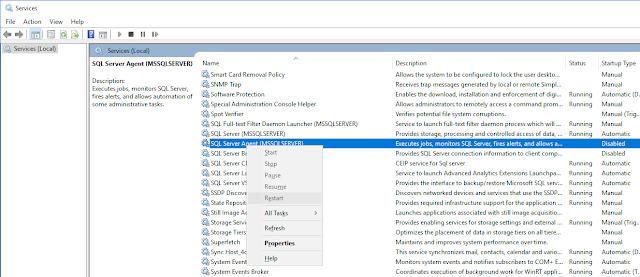 SQL Server Agent won't Start !