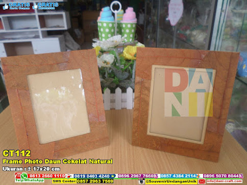 Frame Photo Daun Cokelat Natural