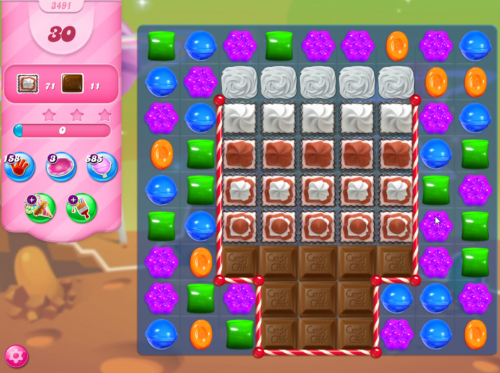 Candy Crush Saga level 3491