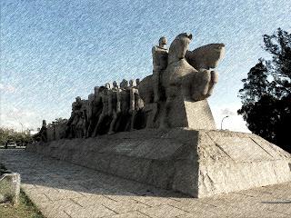 Monumento à Bandeira, em Frente ao Ibirapuera