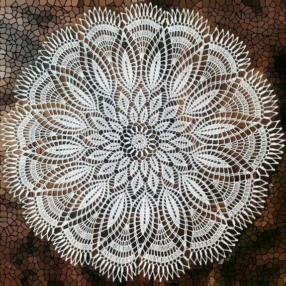 crochet doily pattern - lace doily round white no:26